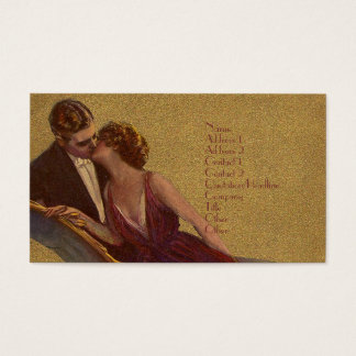 Kissing on the Chaise-Longue Valentine Business Card