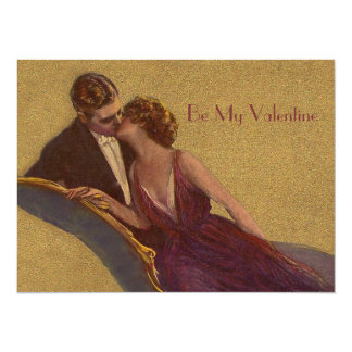 Kissing on the Chaise-Longue Valentine Card