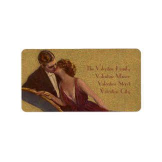 Kissing on the Chaise-Longue Valentine Label
