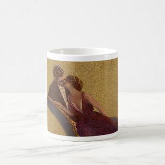 Kissing on the Chaise-Longue Valentine Classic White Coffee Mug