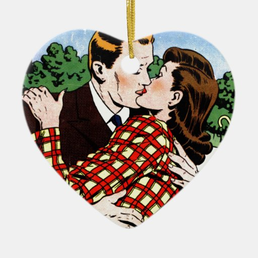 Kissing on the Green Ornament