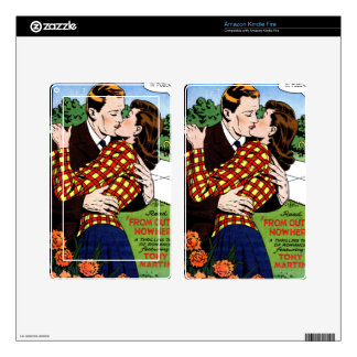 Kissing on the Green Decals For Kindle Fire