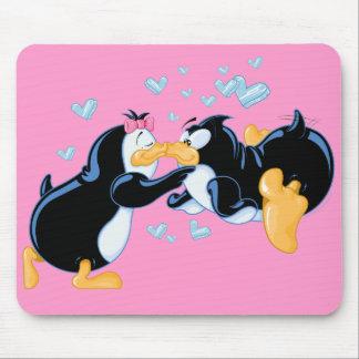 Kissing Penguins Mousepad