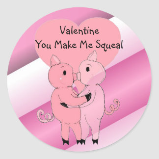 Kissing Piggys Sticker