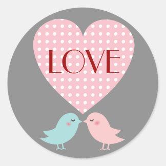 Kissing Pop Birds Love Sticker