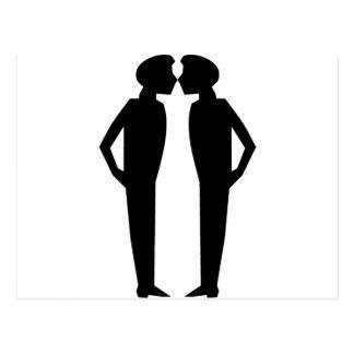 Kissing princes postcard