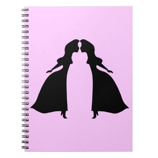 Kissing princesses spiral notebook