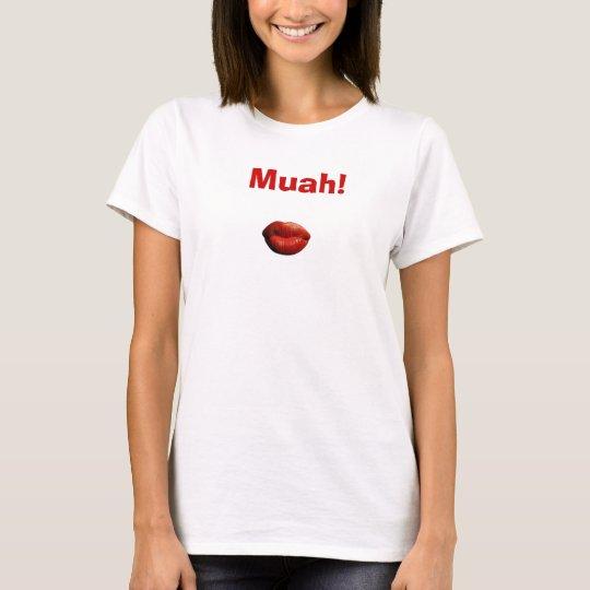 Kissing-Red-Lips, Muah! T-Shirt