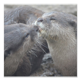Kissing River Otters Invitations