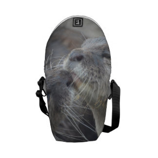Kissing River Otters Messenger Bags