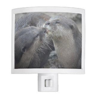 Kissing River Otters Night Light