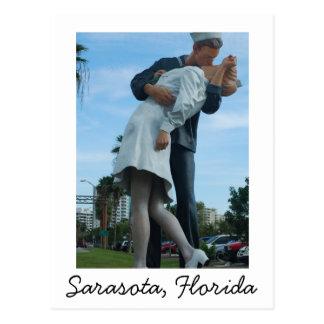 Kissing Sailor, Sarasota, FL Postcard