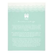 Kissing Seahorses Hearts Beach Wedding Enclosure Custom Announcement