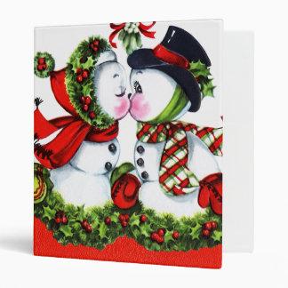 Kissing Snowman Couple Binder