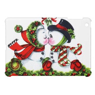 Kissing Snowman Couple iPad Mini Case