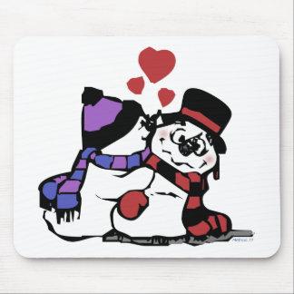 Kissing Snowman Mousepad