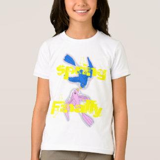 Kissing Swallows Girls Ringer T-Shirt