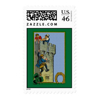 Kissing the Blarney Stone Postage Stamps