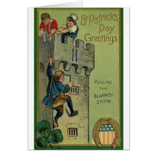 Kissing The Blarney Stone St. Patrick's Day Card