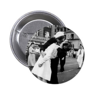 Kissing the War Goodbye at Times Square 2 Inch Round Button