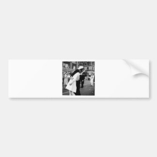 Kissing the War Goodbye at Times Square Car Bumper Sticker