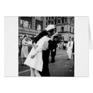 Kissing the War Goodbye at Times Square Card