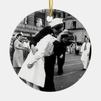Kissing the War Goodbye at Times Square Ceramic Ornament