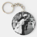 Kissing the War Goodbye at Times Square Key Chain