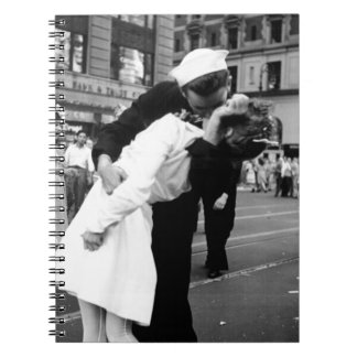Kissing the War Goodbye at Times Square Notebook