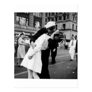 Kissing the War Goodbye at Times Square Post Card