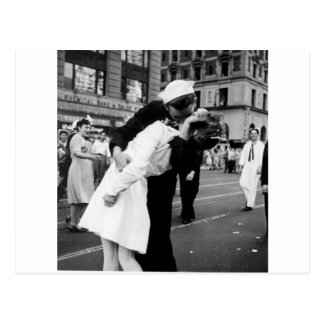 Kissing the War Goodbye at Times Square Postcard