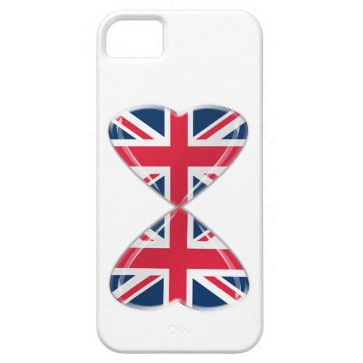 Kissing UK Hearts Flags iPhone 5 Case
