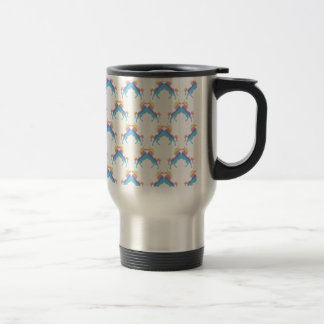 Kissing Unicorns 15 Oz Stainless Steel Travel Mug