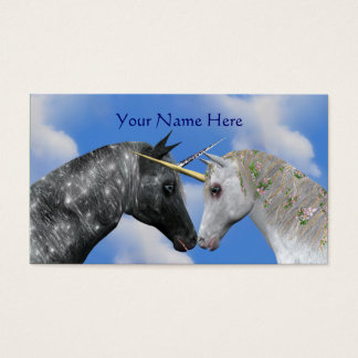 Kissing Unicorns Fantasy Horse Business Card