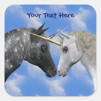 Kissing Unicorns Fantasy Sticker