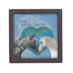 Kissing Unicorns Marry Me Engagement Ring Box Premium Gift Box
