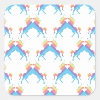 Kissing Unicorns Square Sticker