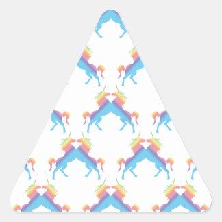 Kissing Unicorns Triangle Stickers