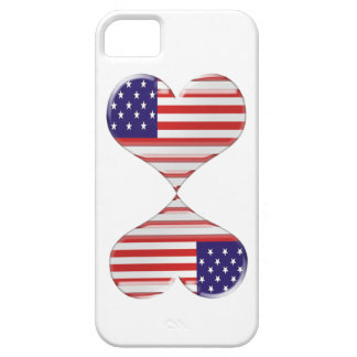 Kissing USA hearts flag art gifts iPhone 5 Cover
