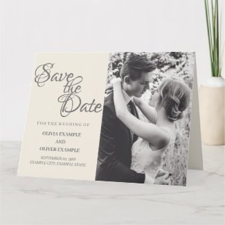 Kissing wedding couple in monochrome card