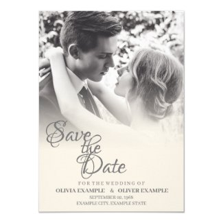 Kissing wedding couple in monochrome invitation