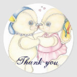Kissing Wedding Engagement Thank You Sticker