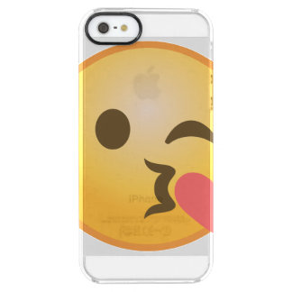 Kissing Winking Emoji Clear iPhone SE/5/5s Case