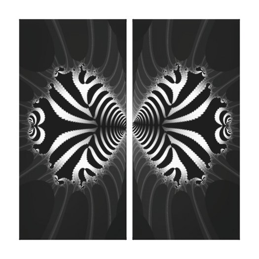 Kissing Zebra Fish Abstract on Wrapped Canvas Stretched Canvas Print