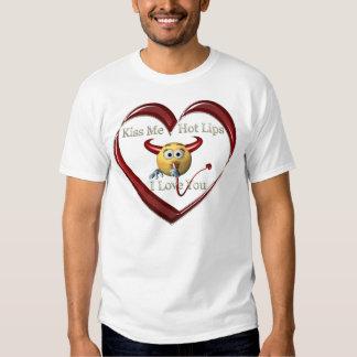 kissme hoplip heart t shirts