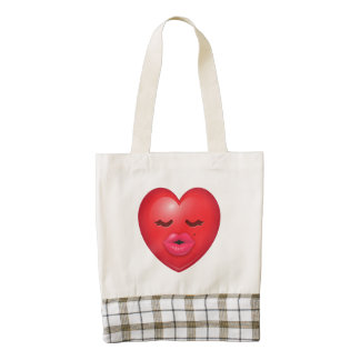 Kissy Emoji Zazzle HEART Tote Bag