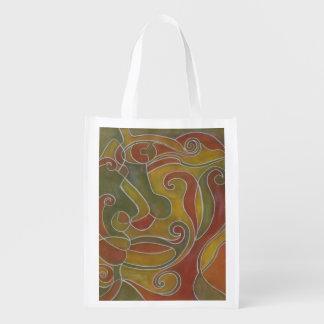Kissy Face Art Grocery Bag