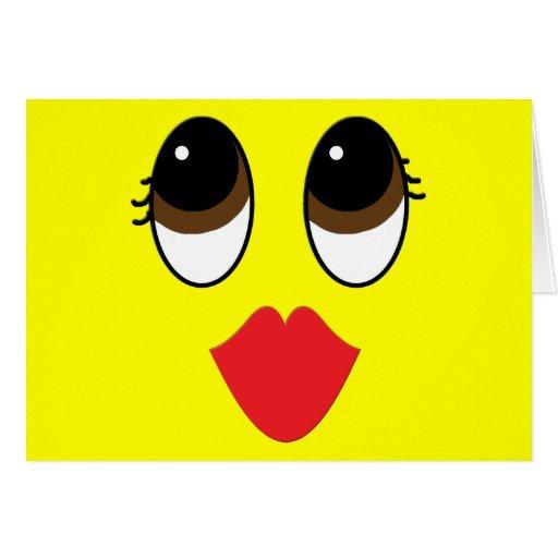 Kissy Face Card