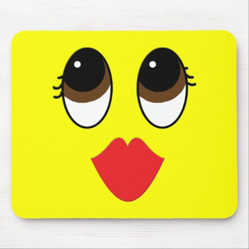 Kissy Face Mouse Pad
