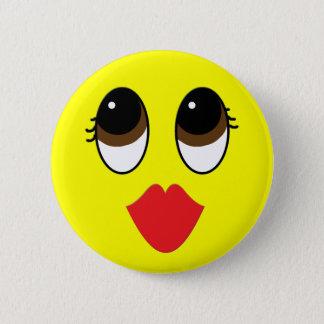 Kissy Face Pinback Button